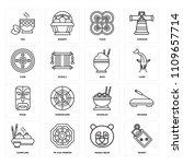 set of 16 icons such as money ...