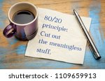 80 20 principle  cut out the... | Shutterstock . vector #1109659913