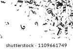 black musical notes on white... | Shutterstock .eps vector #1109661749