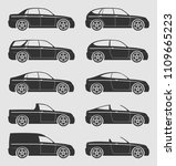 car body type set. vector flat... | Shutterstock .eps vector #1109665223