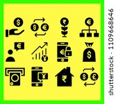 business icons set of financial ... | Shutterstock . vector #1109668646