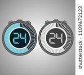 electronic digital stopwatch.... | Shutterstock .eps vector #1109672123