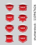 vector illustration of red sale ... | Shutterstock .eps vector #110967626