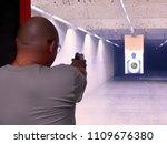 shooting gun at the range | Shutterstock . vector #1109676380