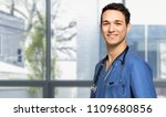 male nurse smiling | Shutterstock . vector #1109680856