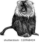 shaggy monkey | Shutterstock .eps vector #110968424