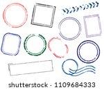 stamps frames vector... | Shutterstock .eps vector #1109684333