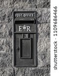 old fashioned uk postbox... | Shutterstock . vector #1109686466