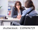 injured employee visiting...   Shutterstock . vector #1109696729