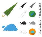 different weather cartoon black ...   Shutterstock .eps vector #1109696903