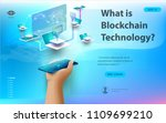 concept of big data processing  ...   Shutterstock .eps vector #1109699210