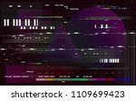 glitch television on black... | Shutterstock .eps vector #1109699423