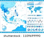 southeast asia map and... | Shutterstock .eps vector #1109699990