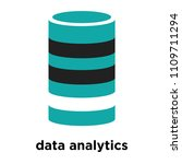 data analytics cylinder symbol... | Shutterstock .eps vector #1109711294