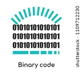 binary code loading symbol icon ...