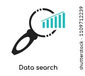 data search interface symbol of ... | Shutterstock .eps vector #1109712239