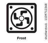 frost icon vector isolated on... | Shutterstock .eps vector #1109712368