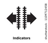 indicators icon vector isolated ... | Shutterstock .eps vector #1109712458