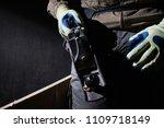 closeup photo of a carpenter...   Shutterstock . vector #1109718149