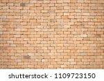 red brick wall texture grunge... | Shutterstock . vector #1109723150