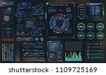 hud and ui set elements  sci fi ...
