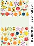 paper art concept  mixed fruit...   Shutterstock .eps vector #1109725199