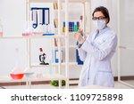 female chemist working in... | Shutterstock . vector #1109725898
