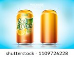 refreshing soft drink metal can ... | Shutterstock .eps vector #1109726228