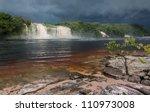 Hacha Waterfall In The Lagoon...