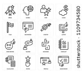 set of 16 icons such as good...