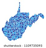 west virginia state map... | Shutterstock .eps vector #1109735093