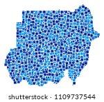 sudan map composition of random ... | Shutterstock .eps vector #1109737544