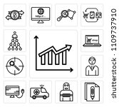 set of 13 simple editable icons ... | Shutterstock .eps vector #1109737910