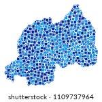 rwanda map collage of scattered ... | Shutterstock .eps vector #1109737964