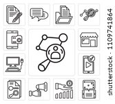 set of 13 simple editable icons ... | Shutterstock .eps vector #1109741864