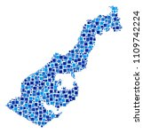 monaco map collage of scattered ... | Shutterstock .eps vector #1109742224