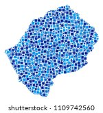 lesotho map mosaic of... | Shutterstock .eps vector #1109742560