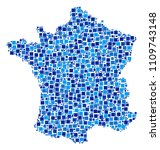 france map composition of... | Shutterstock .eps vector #1109743148