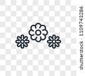 3 flowers vector icon isolated... | Shutterstock .eps vector #1109743286