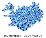 iceland map composition of... | Shutterstock .eps vector #1109743604