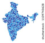 india map mosaic of scattered... | Shutterstock .eps vector #1109743628