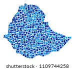 ethiopia map collage of... | Shutterstock .eps vector #1109744258