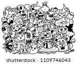 funny monsters pattern for... | Shutterstock .eps vector #1109746043