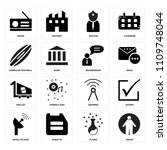 set of 16 icons such as group ...