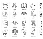 set of 16 icons such as... | Shutterstock .eps vector #1109748143