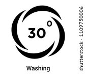 washing icon vector isolated on ... | Shutterstock .eps vector #1109750006