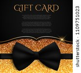 gold gift card with glitter and ... | Shutterstock .eps vector #1109751023