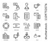 set of 16 icons such as skills  ...