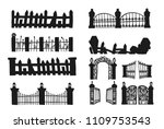 set of halloween fence.fence... | Shutterstock .eps vector #1109753543