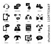 set of 16 icons such as... | Shutterstock .eps vector #1109753669